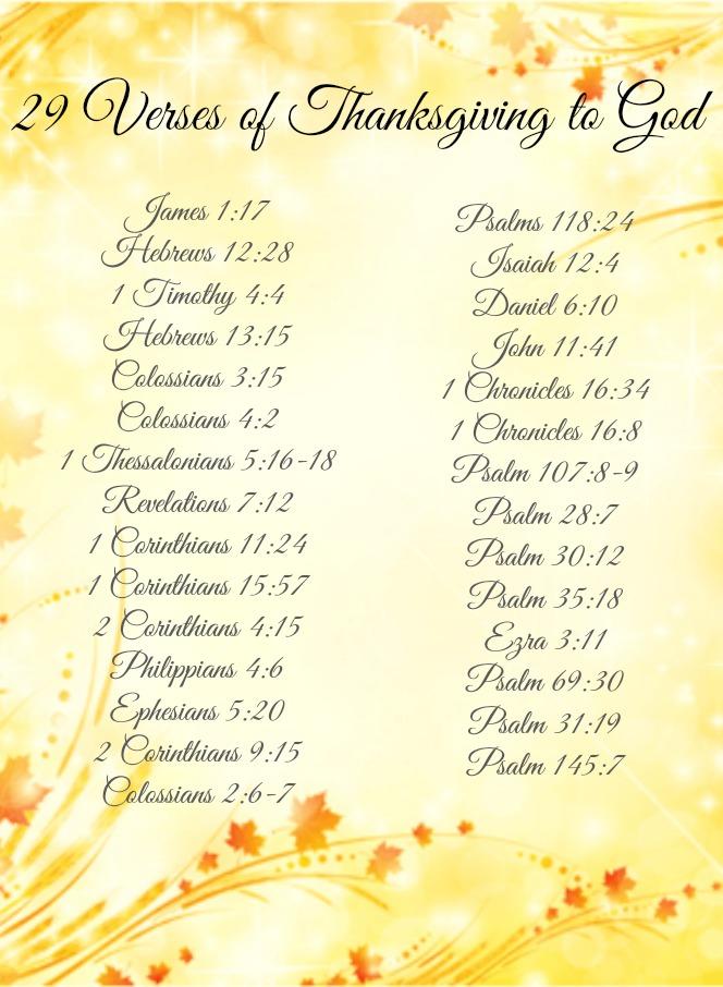 verses of thanksgivingverses of thanksgiving