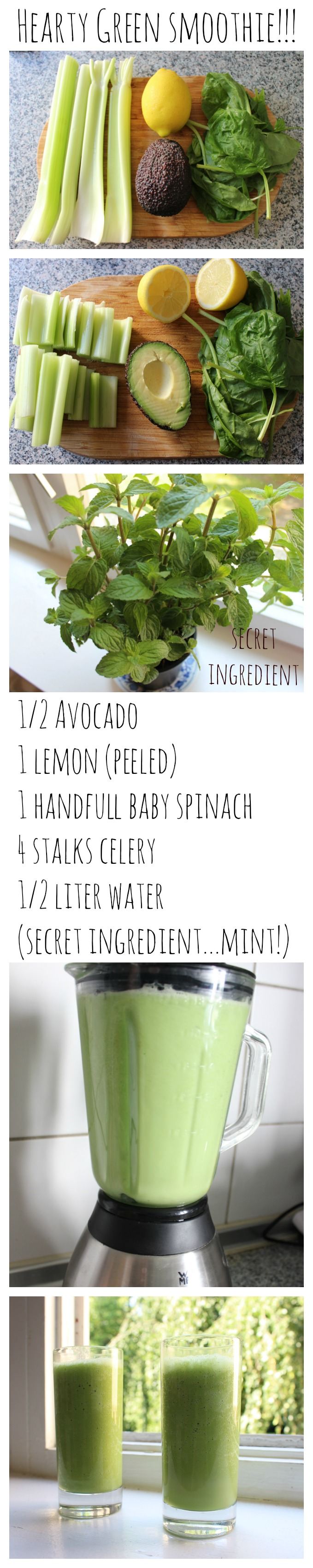hearty green smoothie